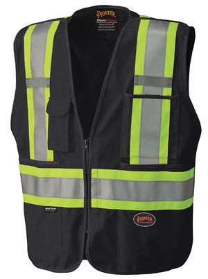 Hi Viz Safety Tear Away Mesh Back Vest
